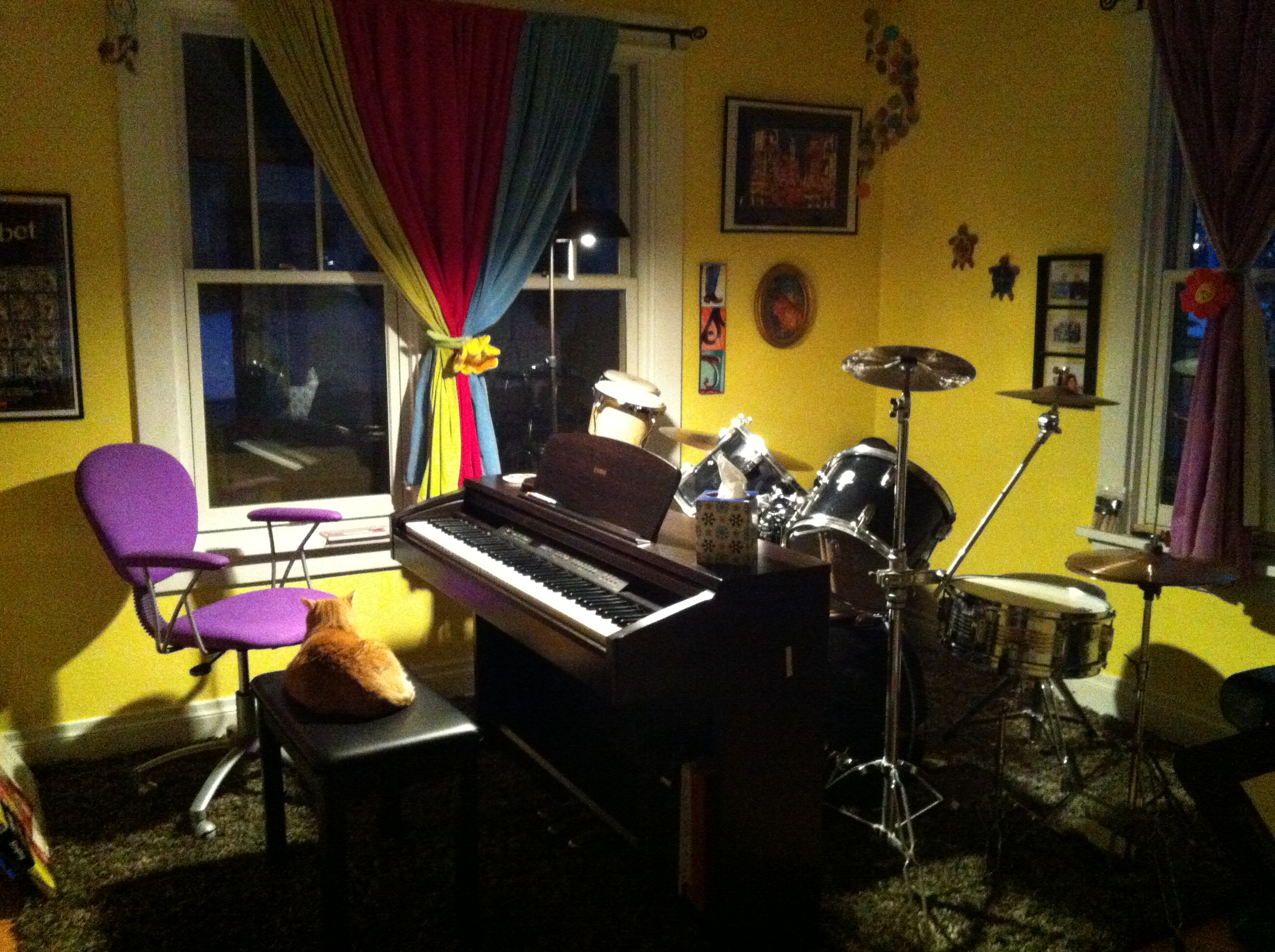 Groovy Pictures Of My New Music Studio All Ready For Students Going Solo Largest Home Design Picture Inspirations Pitcheantrous